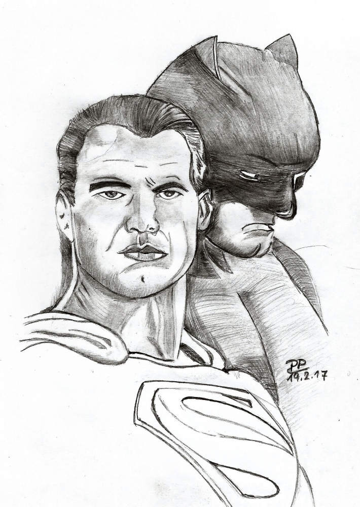 Batman, Superman by Patoux